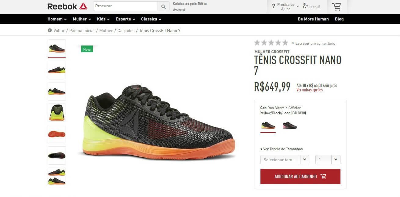 fe7b542bcf0 E-commerce da Reebok chega ao Brasil –